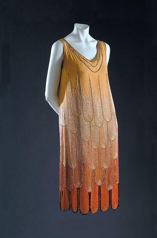A poiret flapper gown