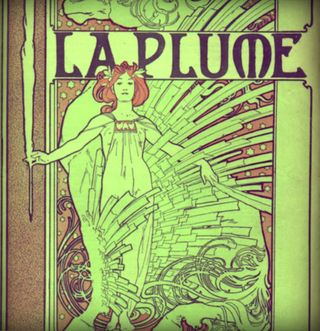 Cover composed by Mucha for the french literary and artistic Review La Plume 15 January 1898-pola